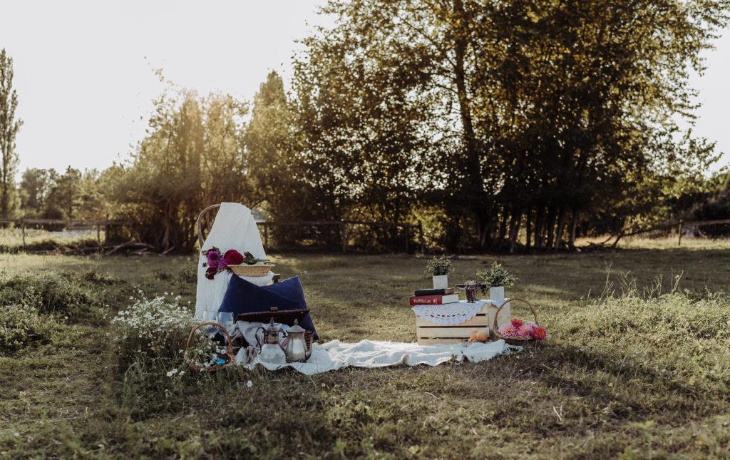 picnic set up in farm