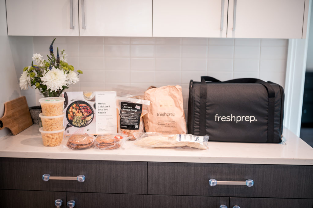 Fresh Prep Meal delivery kit for glamouraspirit home for dinner fundraiser to benefit families staying at RMH BC