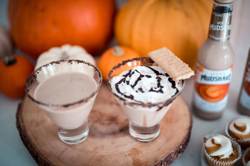 Pumpkin Spice and Everything Nice Cocktail with Vodka Mudshake Pumpkin Spice Latte