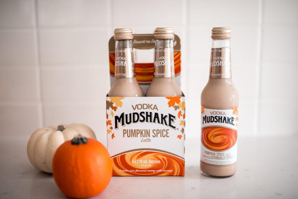 Vodka Mudhake Pumpkin Spice Latte with pumpkins