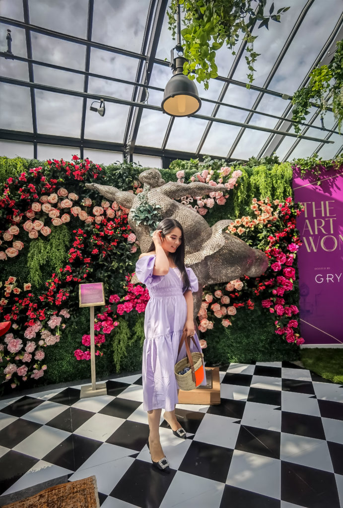 Glamouraspirit at Art of Wonder Alice in Wonderland installation at Kerrisdale with Gryphon Development with Huawei P40 Pro