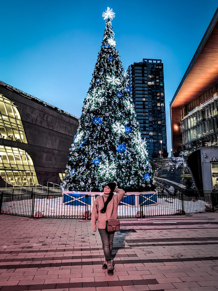 Photo taken with Huawei P40 Pro night mode Surrey Central giant Christmas tree